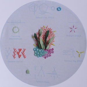 embroidery kit coral reef