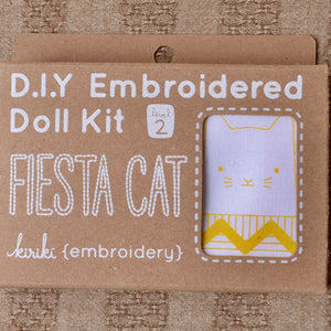 Embroidery kit Kiriki cat
