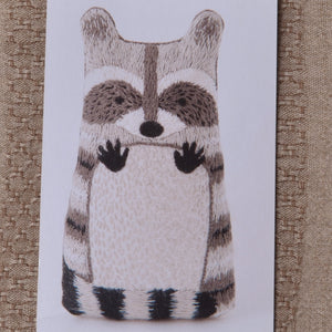 Racoon modern embroidery kit by Kiriki