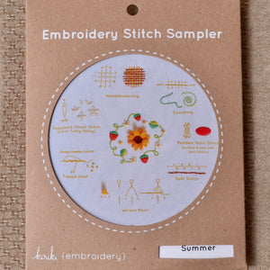 modern embroidery kit Kiriki