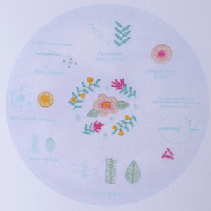 modern embroidery stitch sampler