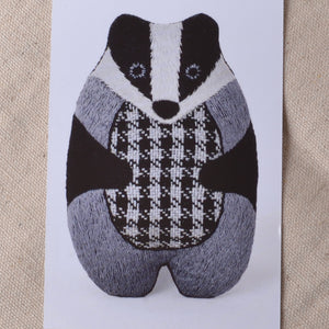 Kiriki embroidery kit, Badger