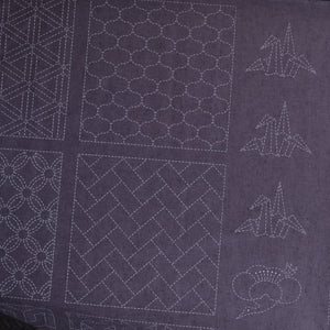 preprinted sashiko panel