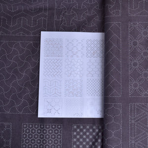 sashiko preprinted panel