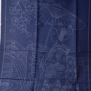 cropped Maiko Bloom sashiko panel