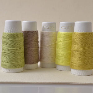 Sashiko Threads Taupe Colors