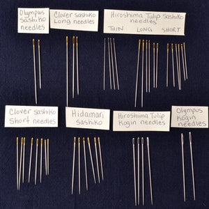 Sashiko & Kogin Needles Comparisons Chart