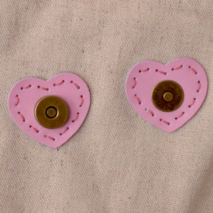 pink heart shape magnetic snap closures