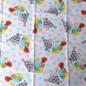 Sweetie Tweetie on Cotton/Linen Fabric