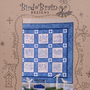 Snowman pattern embroidery quilting sewing