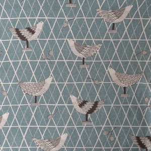 Stylised Birds on Cotton Linen Fabric