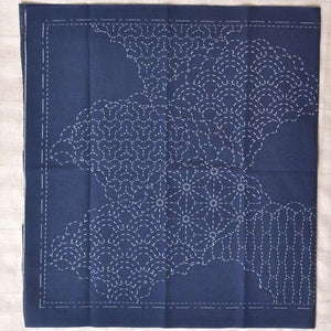 Sashiko Kit pre printed Cumulus Clouds