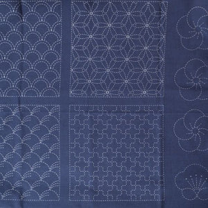 Sashiko Preprinted Tsumugi Fabric Panel