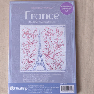 Sashiko World Eiffel Tower and Irises Kit