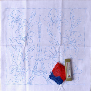 Sashiko World, Eiffel Tower & Irises Kit