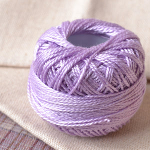 violet perle cotton