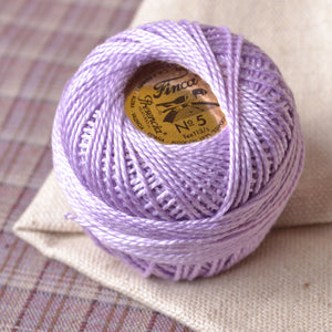 light purple perle cotton