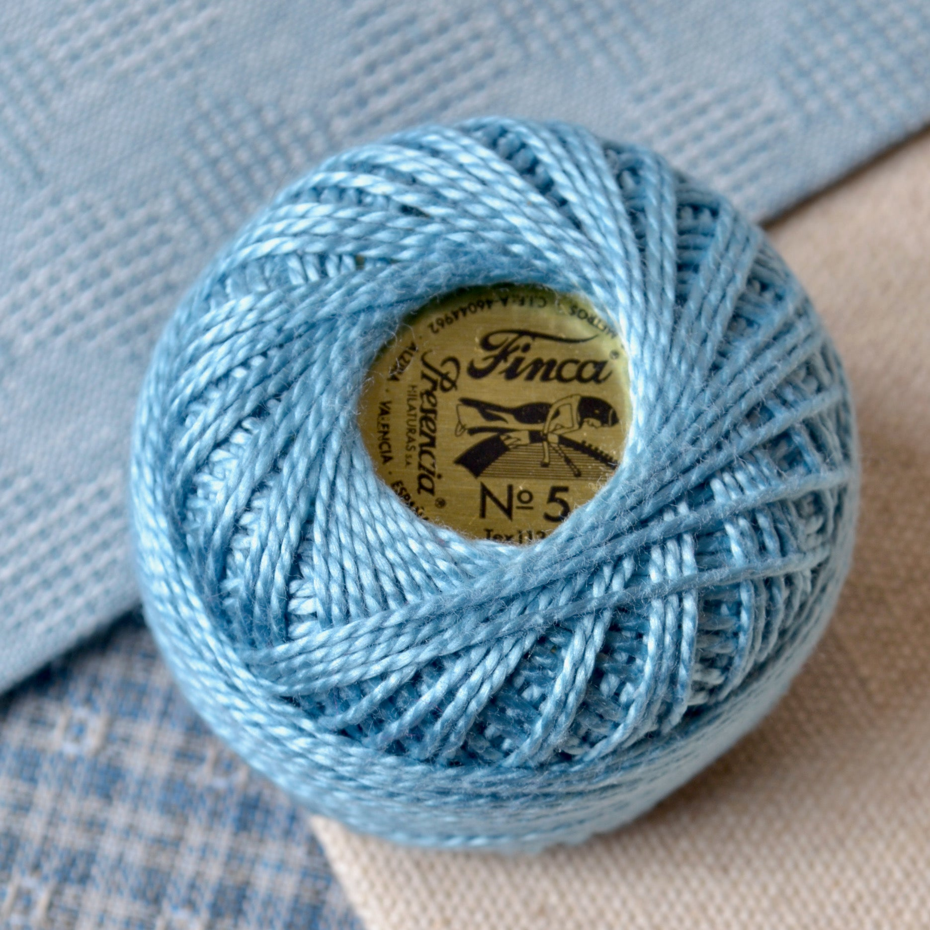 blue perle cotton
