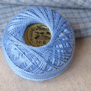 blue #8 perle cotton thread