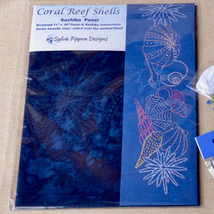 Coral Reef Shells Sashiko Fabric Kit