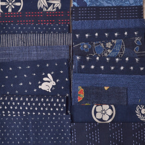 small pieces of Japanese cotton fabrics