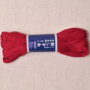 rose red sashiko thread