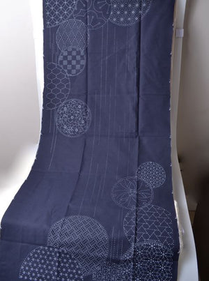 sashiko waterfall panel