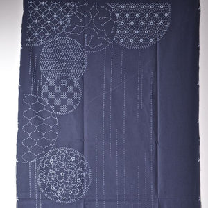 sashiko pre printed fabric panel 1/2 of the design
