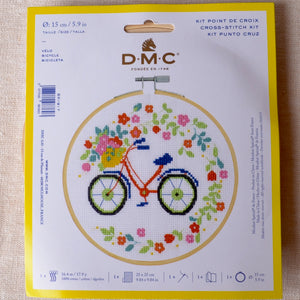 Bicycle cross stitch kit