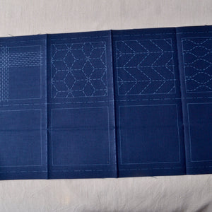 Sashiko Pre-printed Fabric Kit, 4 Designs