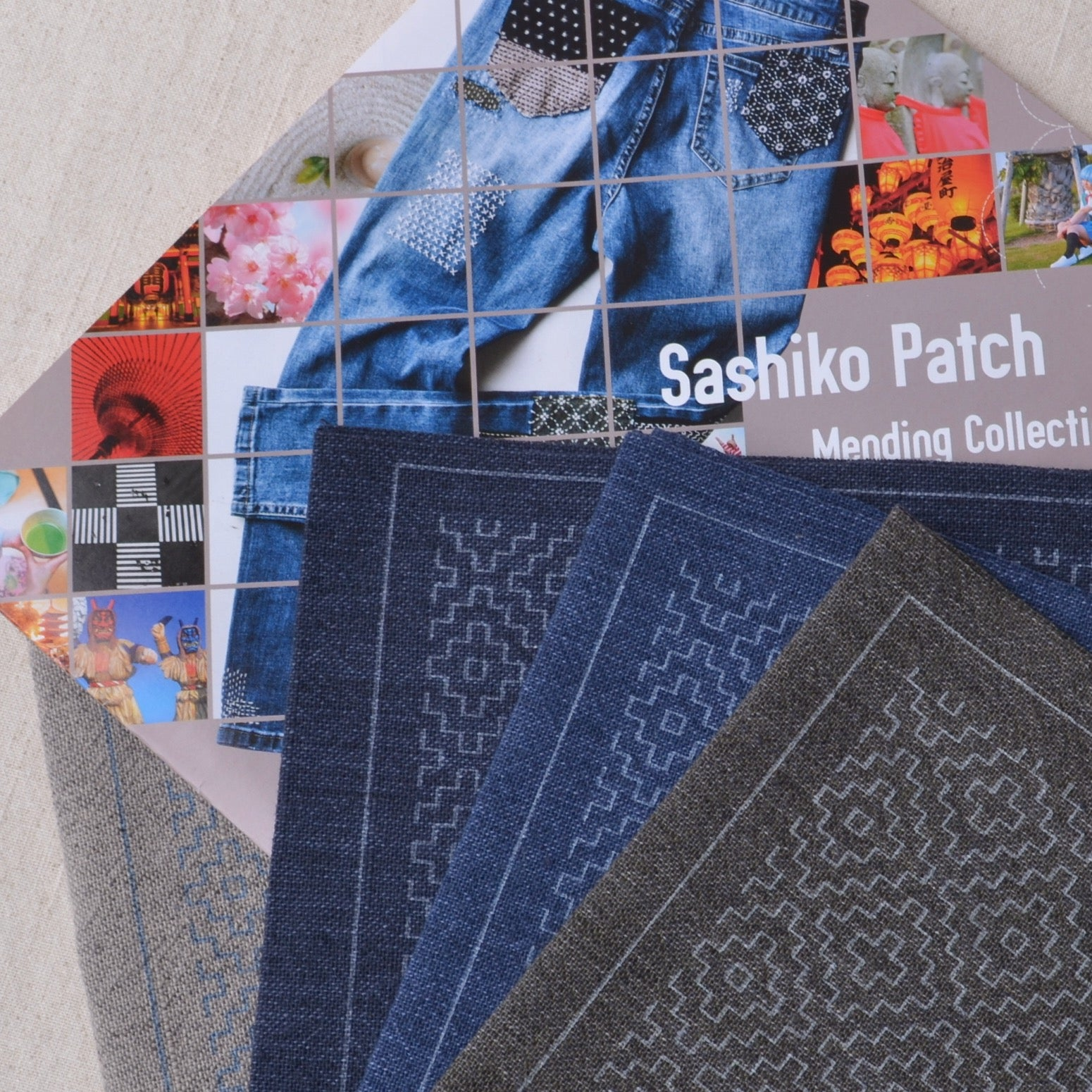 Sashiko Patch showing available colors