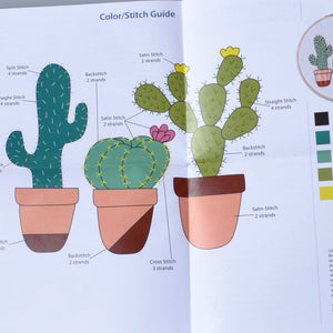 Embroidery Kit Cactus