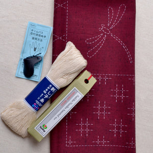 pre printed reasy to stitch sashiko panel kit