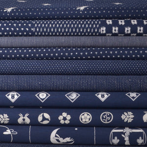 Wagara Japanese sewing fabrics, navy blue