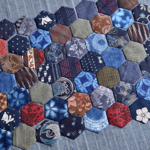 sample of hexis using Japanese fabrics