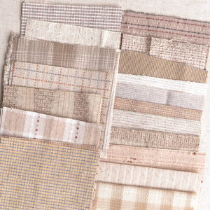 Boro Fabric Pack, Small Pieces, Mixed Taupes