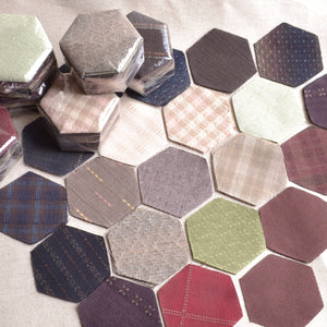 hexagons dyed yarn cotton fabric