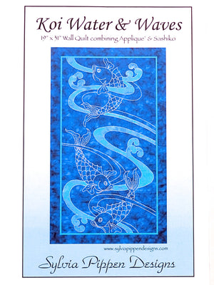 Koi Water & Waves Pattern by Sylvia Pippen