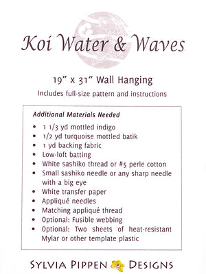 Koi Water and Waves Pattern Material List