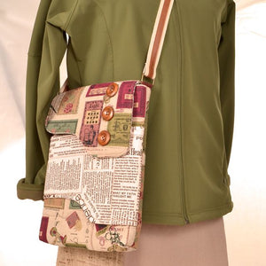 Sample of Melford Messenger Bag sewing pattern by Emma Brennan