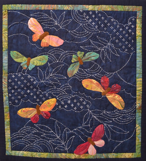 Sample Made From Butterflies & Sashiko Kit