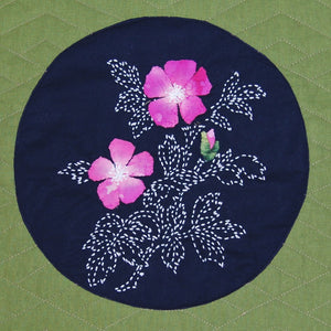 Sample Made From Wild Rose Sashiko Pattern