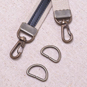 swivel clip bag hardware with clamping end