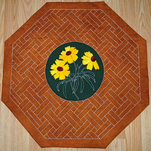 Coreopsis Pattern with Additional Sashiko Table Mat