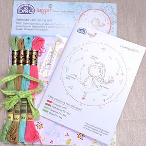 Tamar Spring Girl embroidery kit