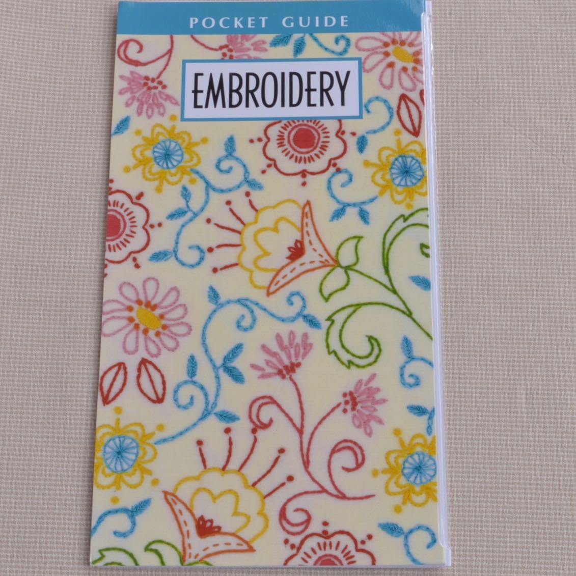 Embroidery pocket guide booklet