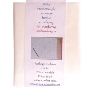 White Fusible Featherweight Interfacing