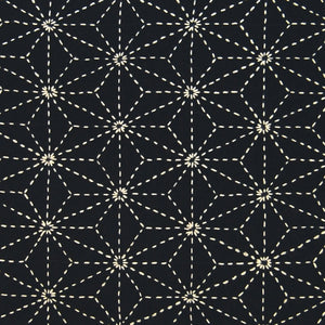 sashiko  asa-no-ha (flax leaf) design
