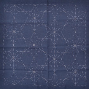 sashiko preprinted fabric kit Tobi Asa No Ha design