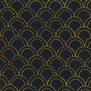 sashiko waves design